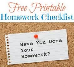 ideas about Homework Checklist on Pinterest   Kindergarten