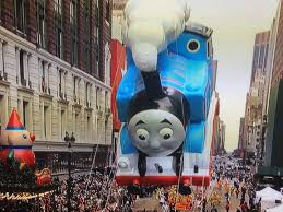 thanksgiving parade balloons thomas the tank engine in the