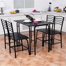 5 pcs black dining table and 4 chairs set kitchen u0026 dining