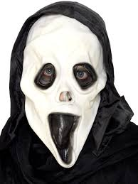 halloween costume mask screamer mask and hood rubber 97044 fancy dress ball