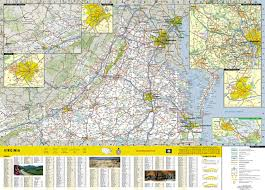 Map Of Virginia Counties And Cities by Virginia National Geographic Guide Map National Geographic Maps