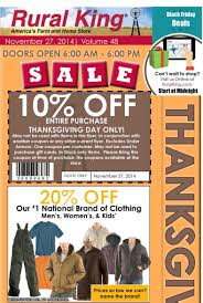 thanksgiving day online deals rural king black friday 2014 ad scans slickguns gun deals