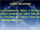 Conjunto de ejercicios para la preparacion del portero de futsal ...