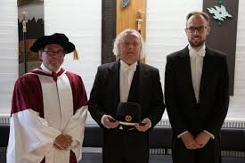 Paavo Ojanen  right  defended his PhD thesis  Estimation of greenhouse gas balance for forestry drained peatlands  on April   th