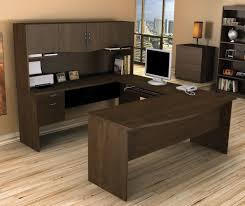 bestar executive u shape computer computer desk chocolate