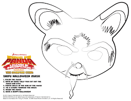 Halloween Masks Printables Printable Coloring Pages Kung Fu Panda 2