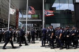 chp sends an army of officers to help protect gop convention san