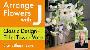 Eiffel Tower Vases Centerpieces How To Make An Arrangement In An Eiffel Tower Vase Youtube