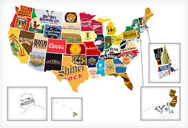 Big Map Of The United States by Map Of All 50 States U0027 Most Iconic Beer Liquor Thrillist