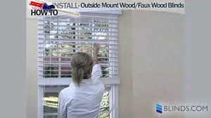 how to install outside mount wood u0026 faux wood blinds on vimeo