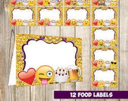 emoji food labels etsy