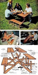 Wooden Folding Picnic Table Plans by 174 Best Outdoor Furniture Plans Images On Pinterest Outdoor