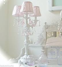 White Shabby Chic Chandelier by Shabby French Candelabra White Table Lamp Chandelier Pink Crystal