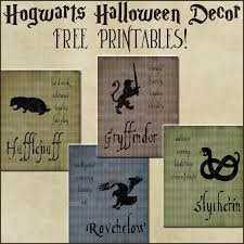 harry potter halloween party halloween decor harry potter house posters free printables