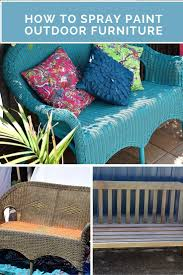 Spray Painting Metal Patio Furniture - how to spray paint outdoor furniture recycled interiors