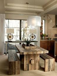 Wood Dining Table Bench Dining Kitchen Pinterest Dining - Timber kitchen table