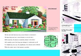 1940s and 50s house plans birchwood houses and floor plans of