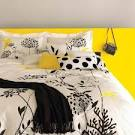 Grey And Yellow Bedding - DiveSplashes