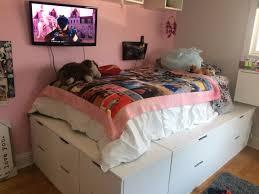 Make A Platform Bed With Storage by Nordli 10 Drawer Platform Bed Ikea Hackers Ikea Hackers