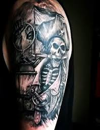 Tattoo Designs Half Sleeve Ideas 50 Pirate Tattoos For Men Arrr Ships And Eye Patches