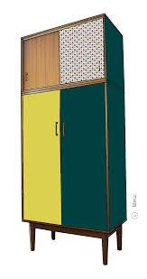 armoire vintage enfant armoire vintage philomène croquis de relooking par lilibroc