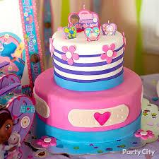 Doc Mcstuffins Home Decor Doc Mcstuffins Fondant Cake How To Party City