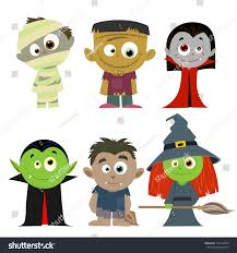 halloween characters clipart easy edit vector illustration halloween character stock vector
