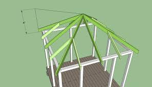square gazebo plans free diy free plans coop shed playhouse