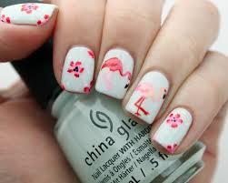 packapunchpolish flamingo u0026 floral nail art