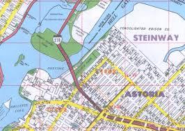 New York County Map by Astoria Ny Neighborhood Street Maps Queens County Ny