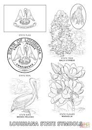 louisiana state symbols coloring page free printable coloring pages