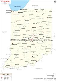 Blank State Map Of Usa by Cities In Indiana Map Of Indiana Cities
