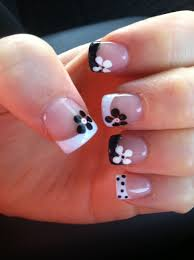 30 pretty flower nail designs flowers black and flower nails