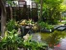 แบบสวนน้ำหน้าบ้านสวยร่มรื่น | homedec.in.th บ้านและสวน