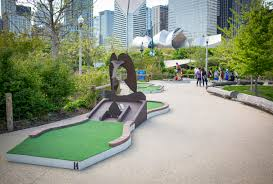 Golf Murals by City Mini Golf At Maggie Daley Park Chicago Mini Golf Course