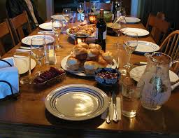 Dinner Table Thanksgiving Table With Food The Thanksgiving Dinner Table U2026 Flickr