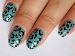 simple leopard print nail art design youtube