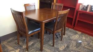 Ashley Furniture Round Dining Sets Ashley Furniture Stuman Dining Table Set D293 Review Youtube