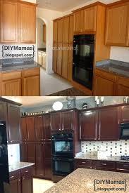 diy mamas kitchen makeover gel stain backsplash hardware