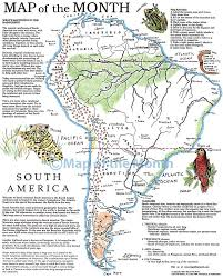Map Of The South America by South America Map Maps For The Classroom
