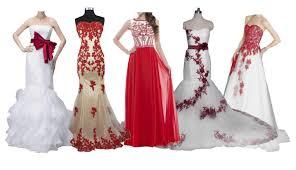 top 10 best red u0026 white wedding dresses