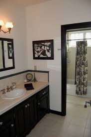 french toile bathroom curtain french country bathroom in black