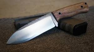 knifemaking making a 1084 high carbon steel bush craft knife