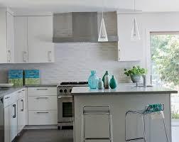 White Tile Kitchen Backsplash Sink Faucet Kitchen With Backsplash Pattern Tile Mirorred Glass