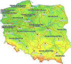 mapa polski rzeki