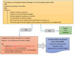 Dangerous Goods Accident or Incident Report     Air