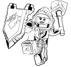 nexo knights coloring pages