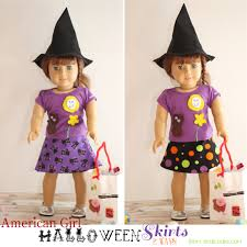 pattern witch costume halloween doll skirts 2 ways american doll clothes pattern