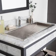 trough 36 36 inch rectangular copper bathroom sink native trails