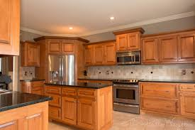 Oak Kitchen Design Ideas Teal Taupe Oak Kitchen The Kitchen Had Maple Cabinets With A